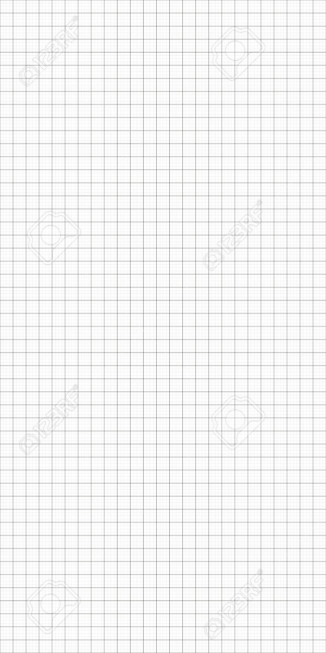 Vector simple graph paper seamless background. Abstract blueprint paper illustration - 124221698