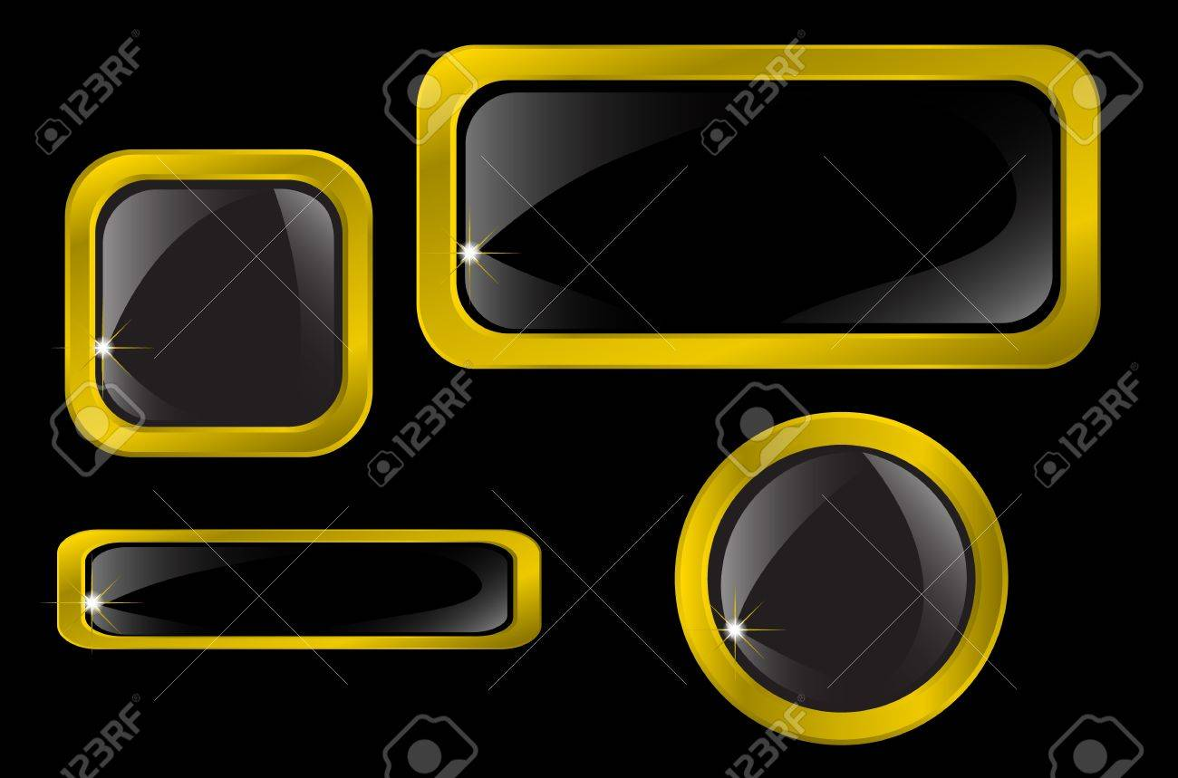 Set of gold icons Stock Vector - 15096306