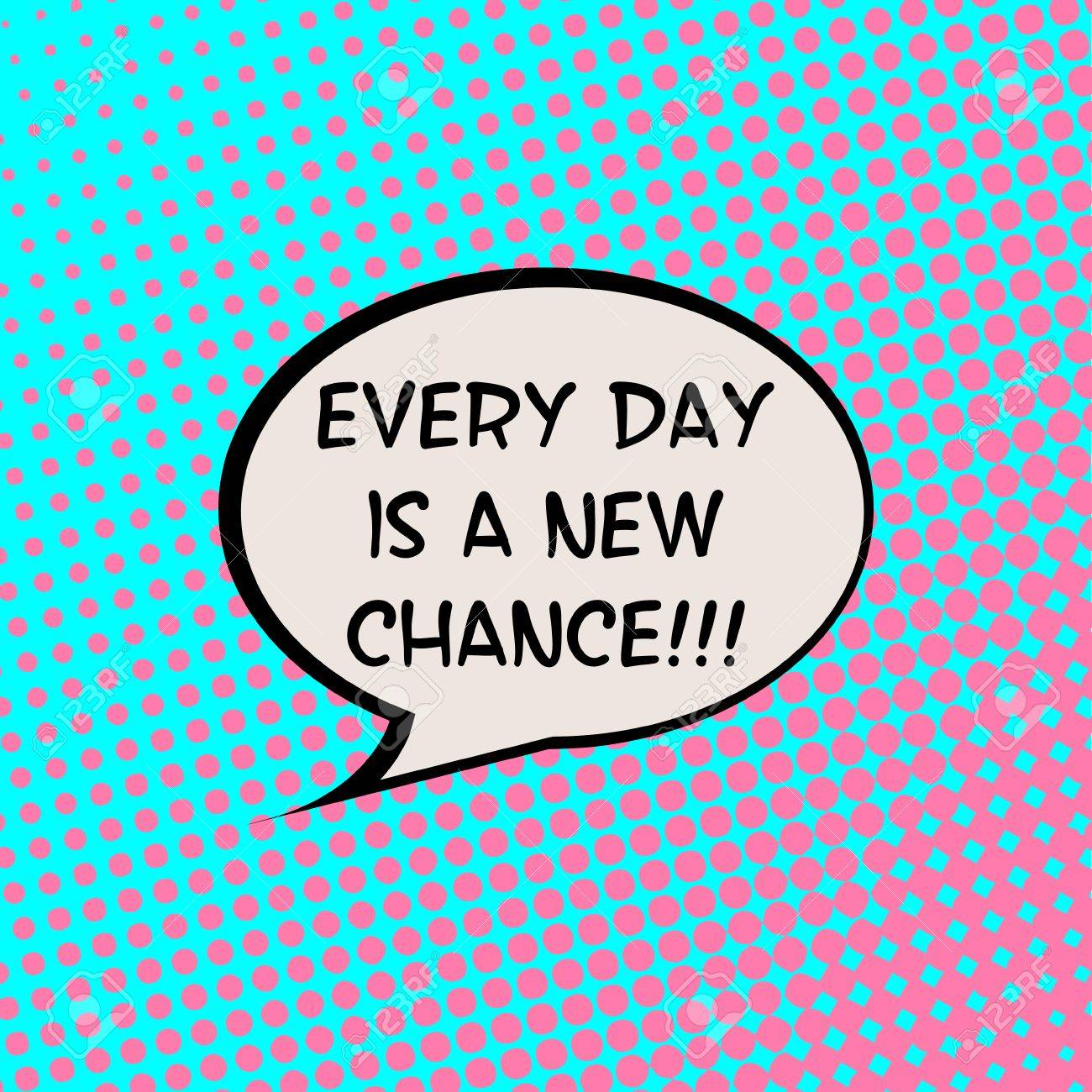 Every End Is A New Beginning Comics Halftone Background Motivation