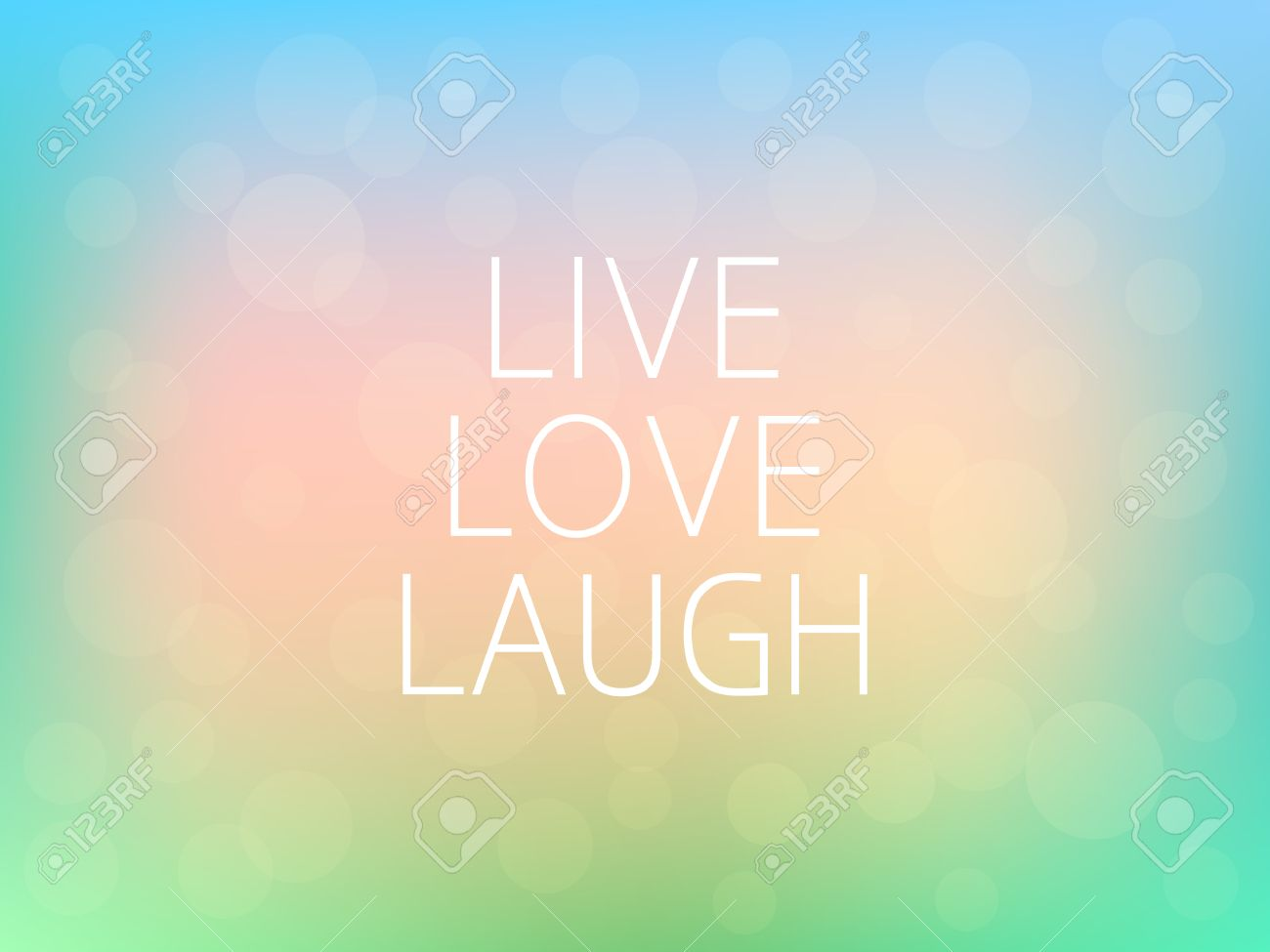 Live Love Laugh Motivation Quote Poster Typography Fresh Colorful