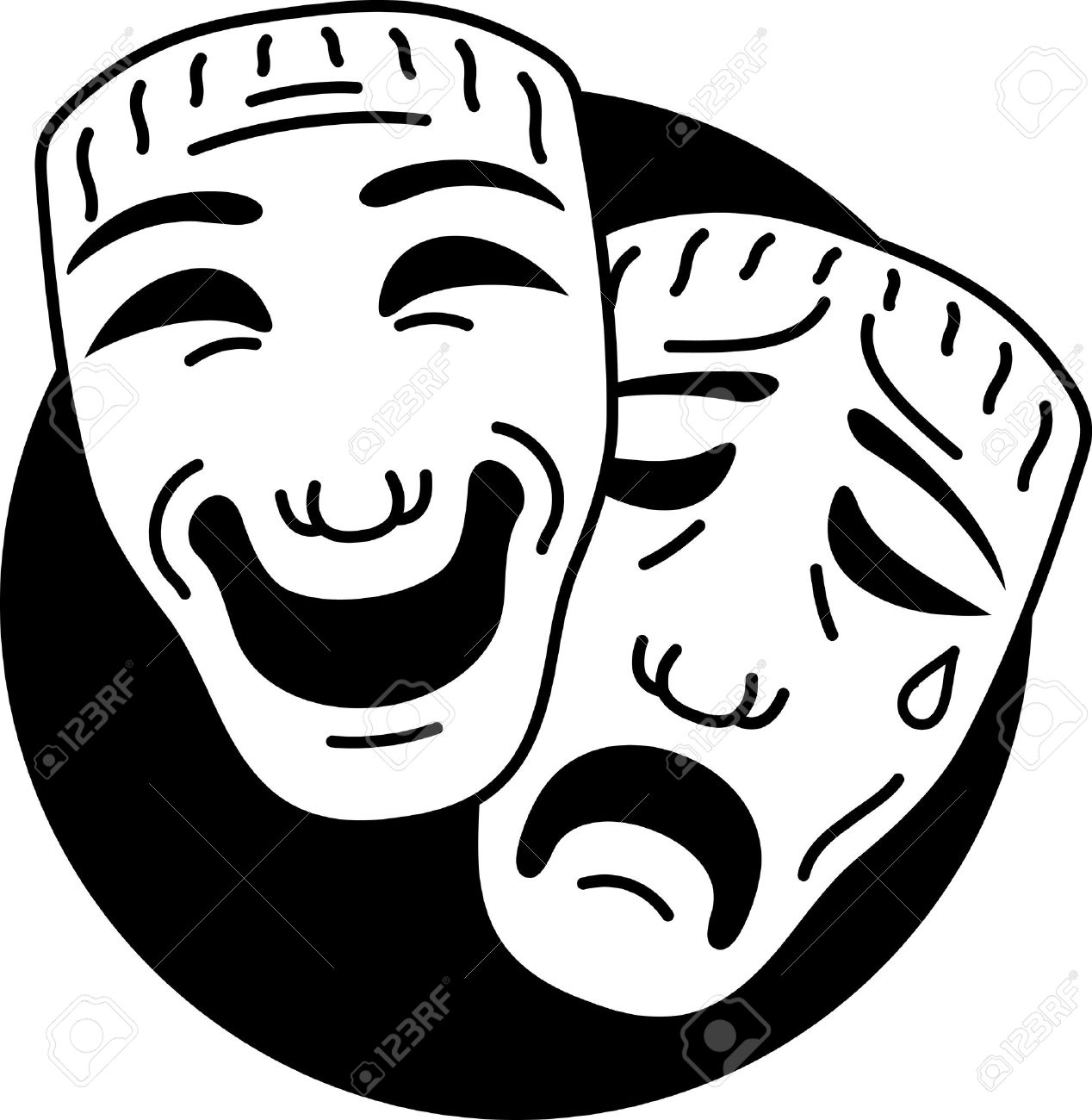 Theatre comedy and tragedy masks - 7123743