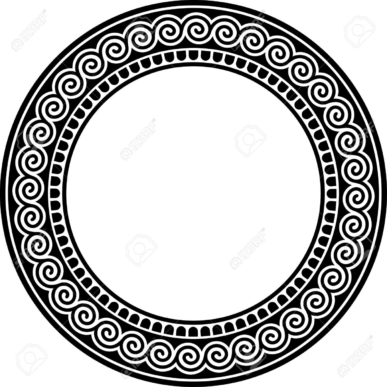 Round Frame With Meander. Royalty Free Cliparts, Vectors, And Stock ...