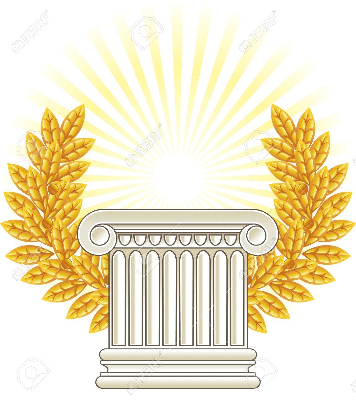 Gold Column Vector Gold Column Antique Greek