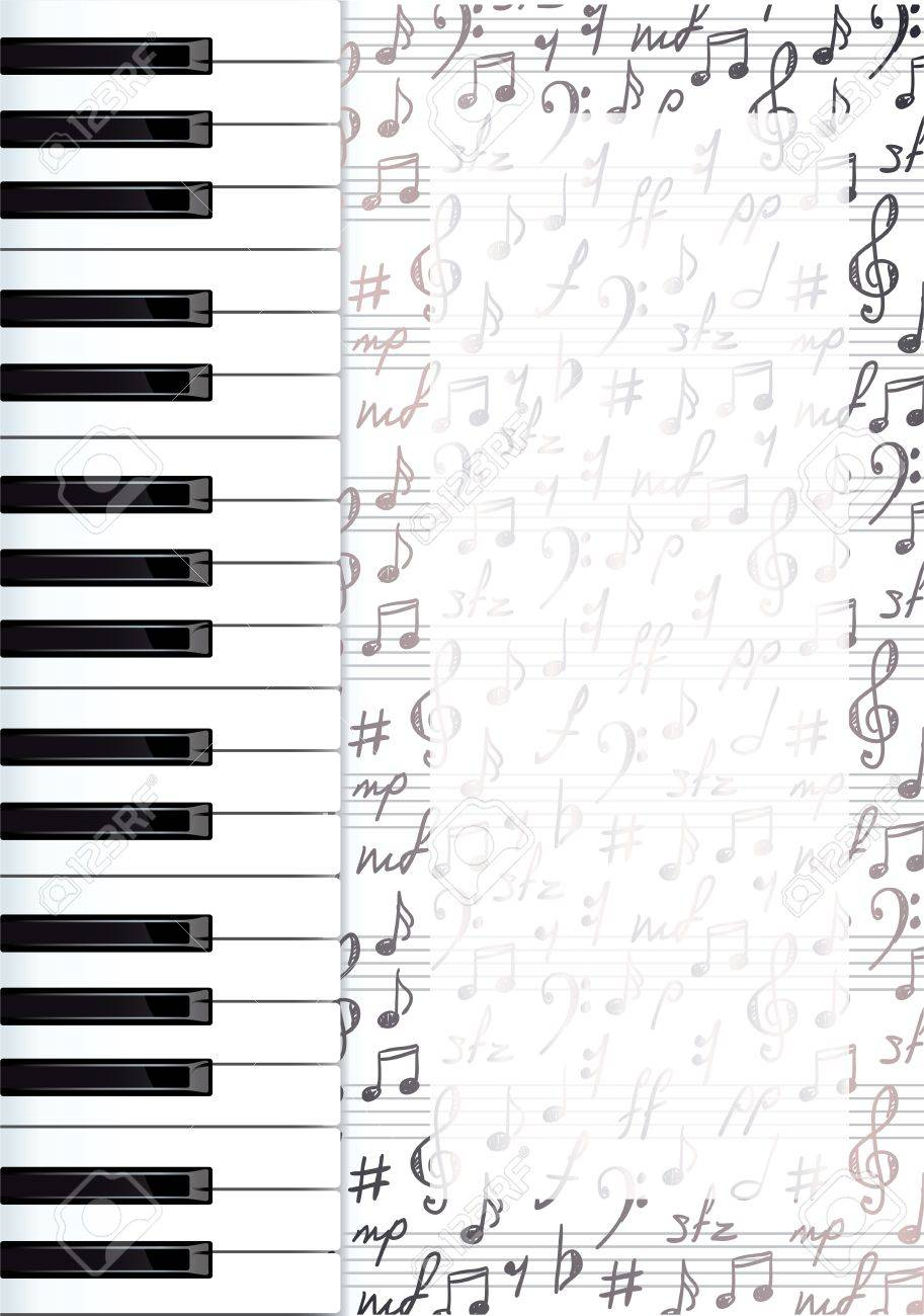 Piano Black Background Abstract Background With Piano