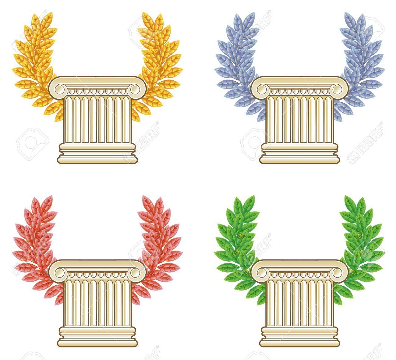 Gold Column Vector Gold Column Gold Silver