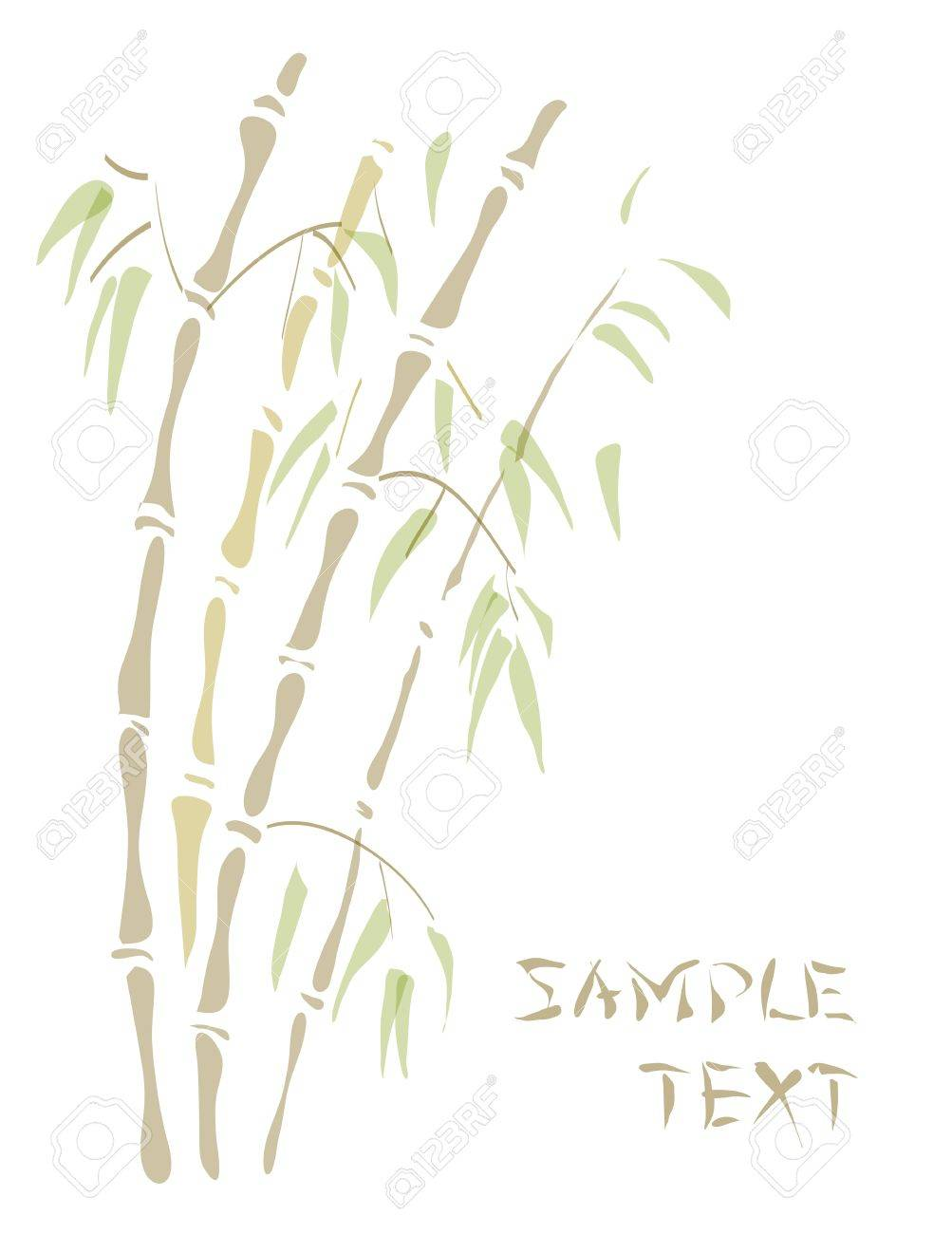 Bamboo. Watercolor style. Vector illustration. Stock Vector - 12492448
