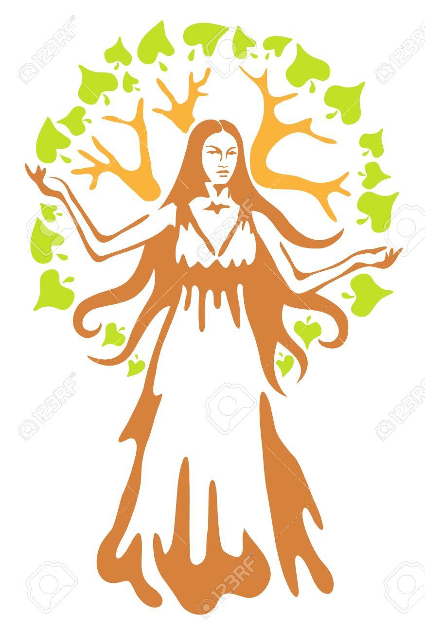 Panacea - ancient Greek goddess. Vector illustration. - 12492438
