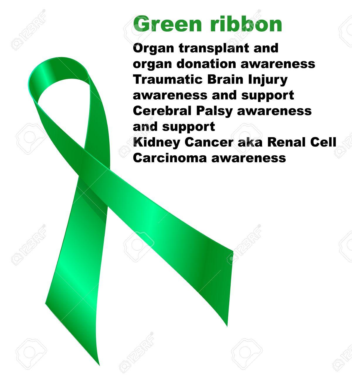 green ribbon organ transplant and organ donation awareness