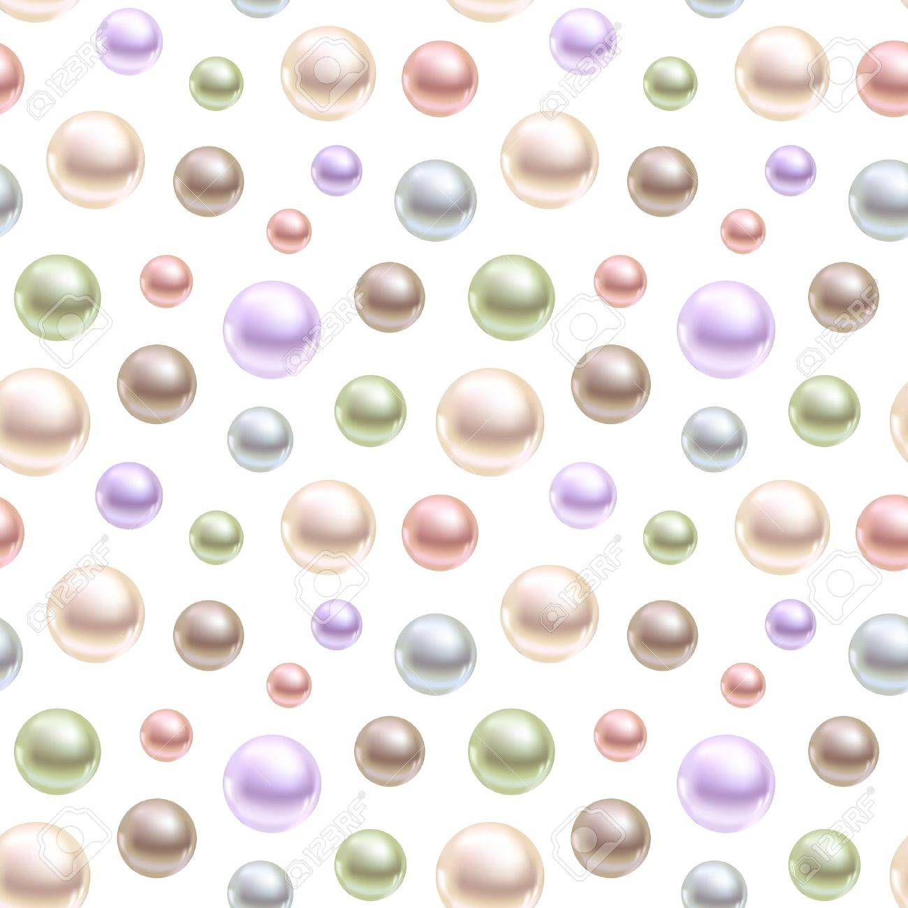 Spherical pearls of different colors Stock Vector - 15775060