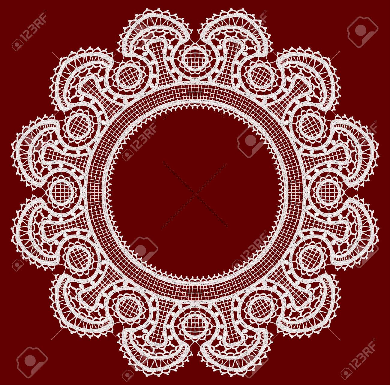 Round openwork lace border Stock Vector - 22474192