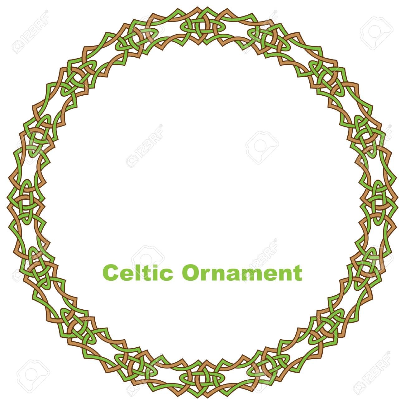 Celtic round frame. Vector illustration. Stock Vector - 28289393