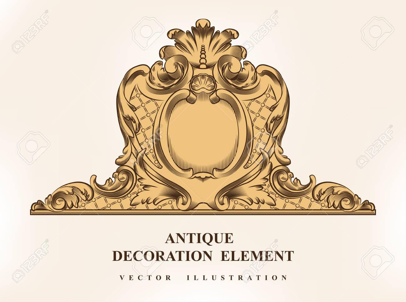 Vintage Architectural Decoration Elements For Design. Vector.. Stock ...