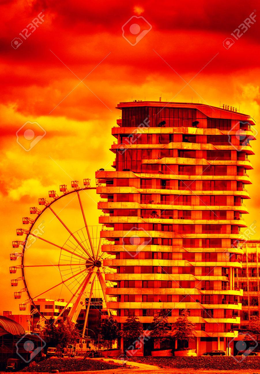 Der Marco Polo Turm in der Hamburger Hafencity