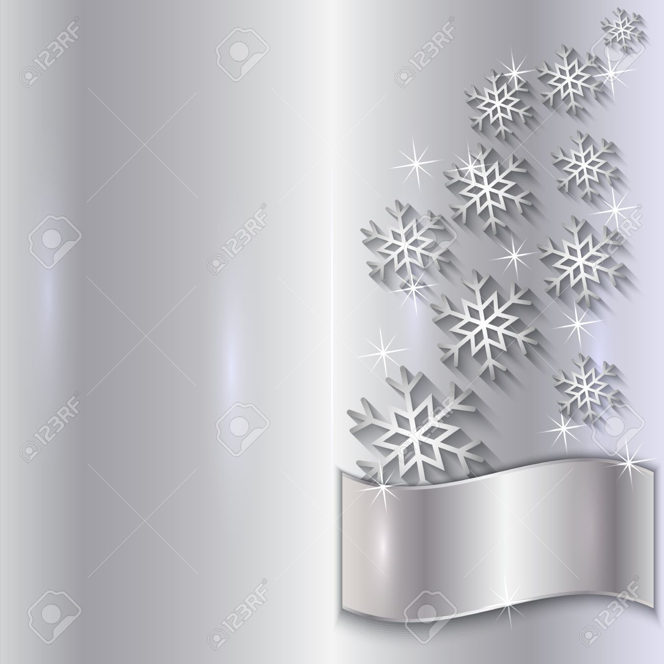 Vector silver invitation card with snowflakes particles and vector vector silver invitation card with snowflakes particles and curve stopboris Choice Image