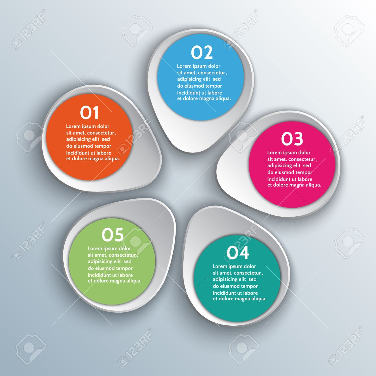 Infographic Design Elements In 3D Style Royalty Free Cliparts ...
