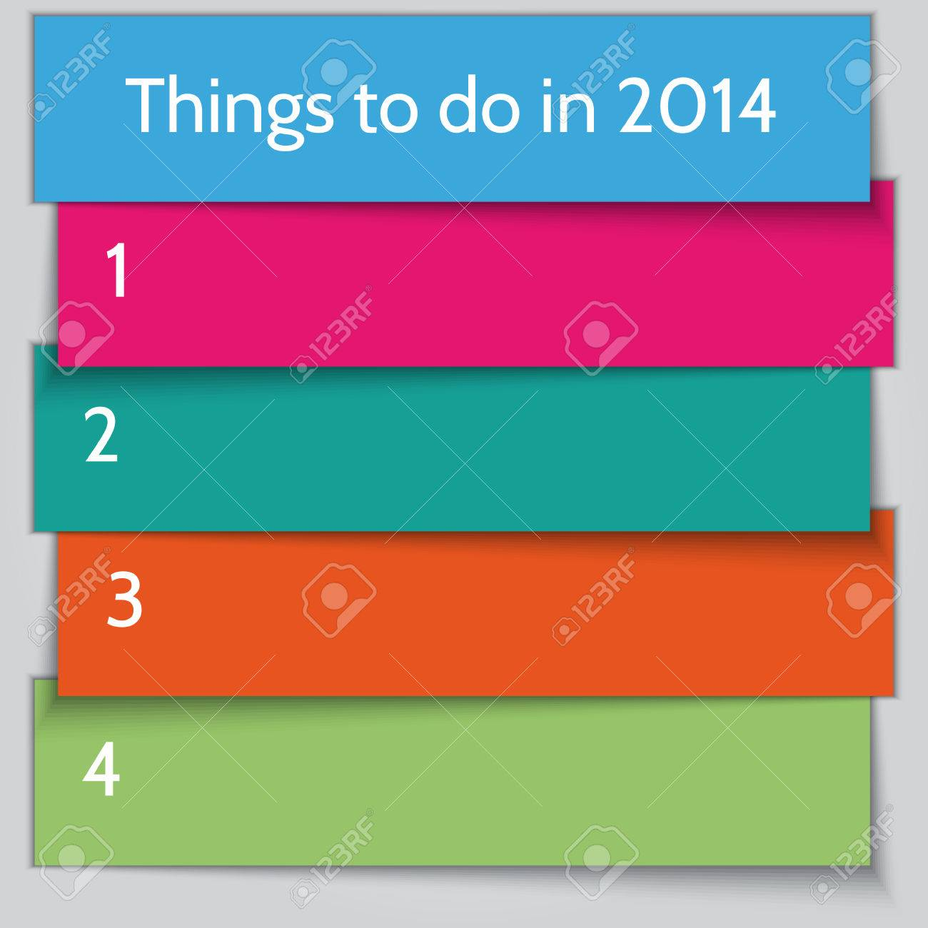 Vector New Year Resolution To Do List Template