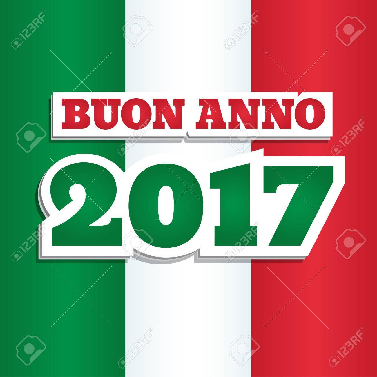 Vektor Grußkarte Mit Dem Text Happy New Year 2017 Auf Italienisch
