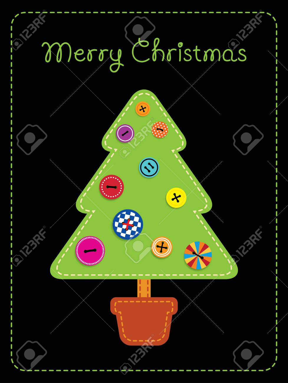 Greeting card with text vector illustration imitating fabric greeting card with text vector illustration imitating fabric applique christmas tree in a pot m4hsunfo