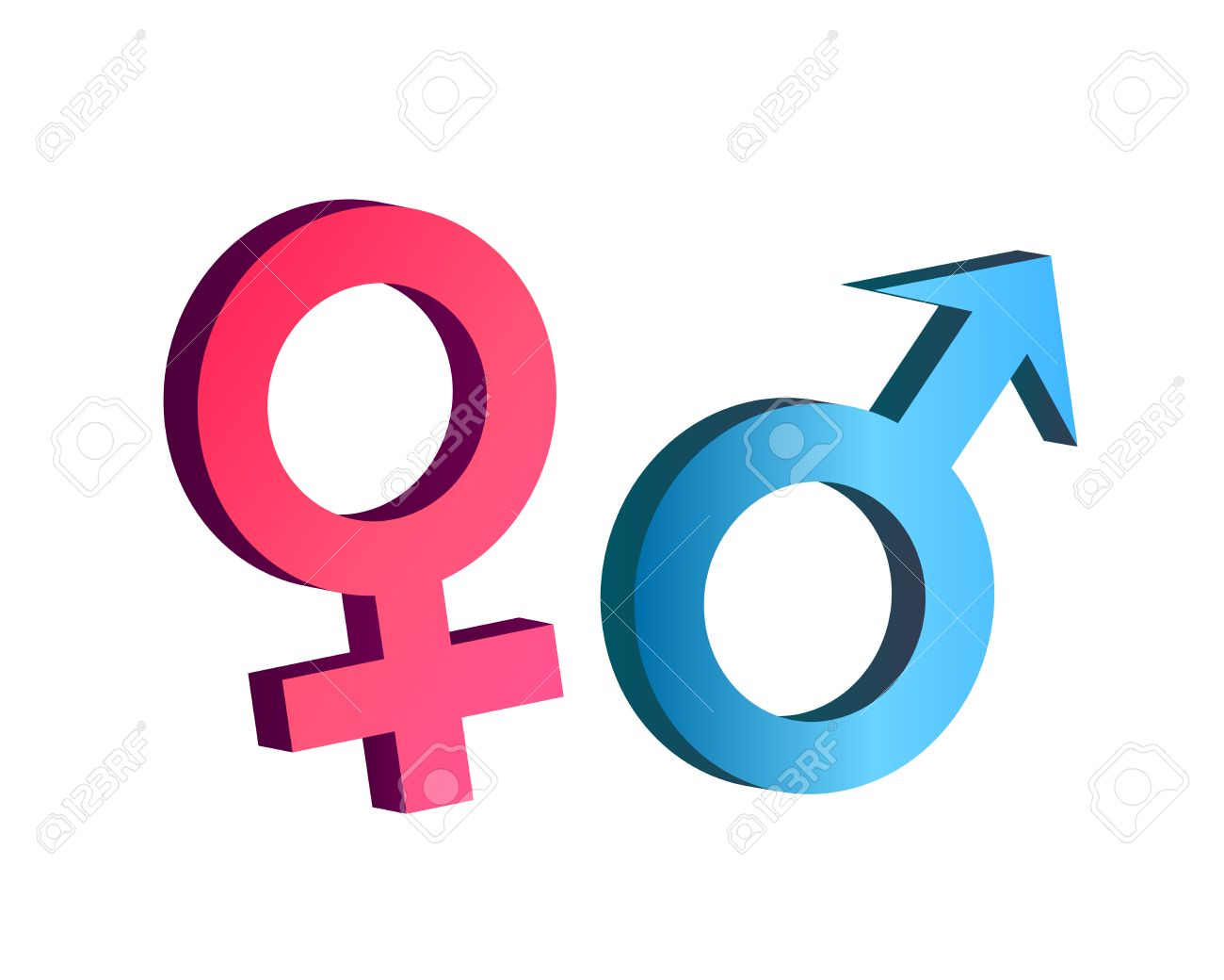 Male And Female Symbol In 3d Vector Royalty Free Cliparts Vectors