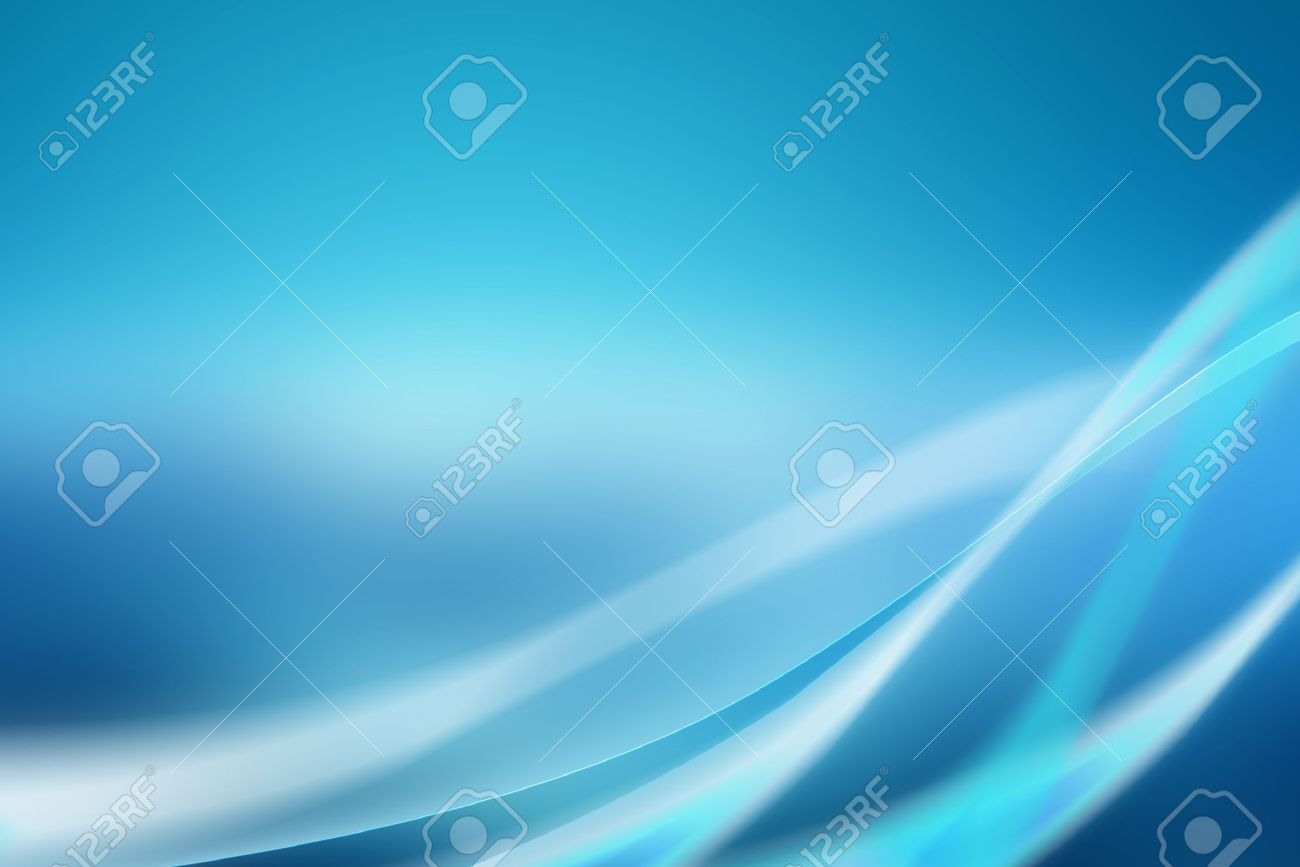 Abstract blue background with soft curves and bright light - 50012731