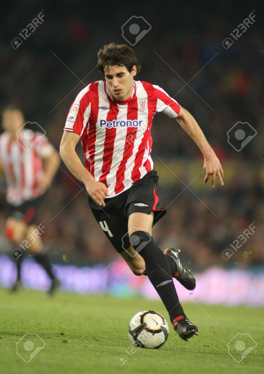 Javi Martinez Athletic Bilbao In Action During A Spanish League