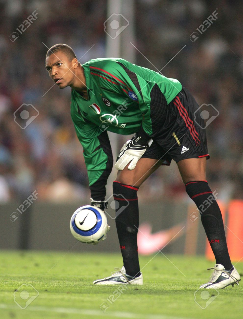 Ac Milan Goalkeeper Dida During A Friendly Match Between Fc Barcelona Stock Photo Picture And Royalty Free Image Image 9082131