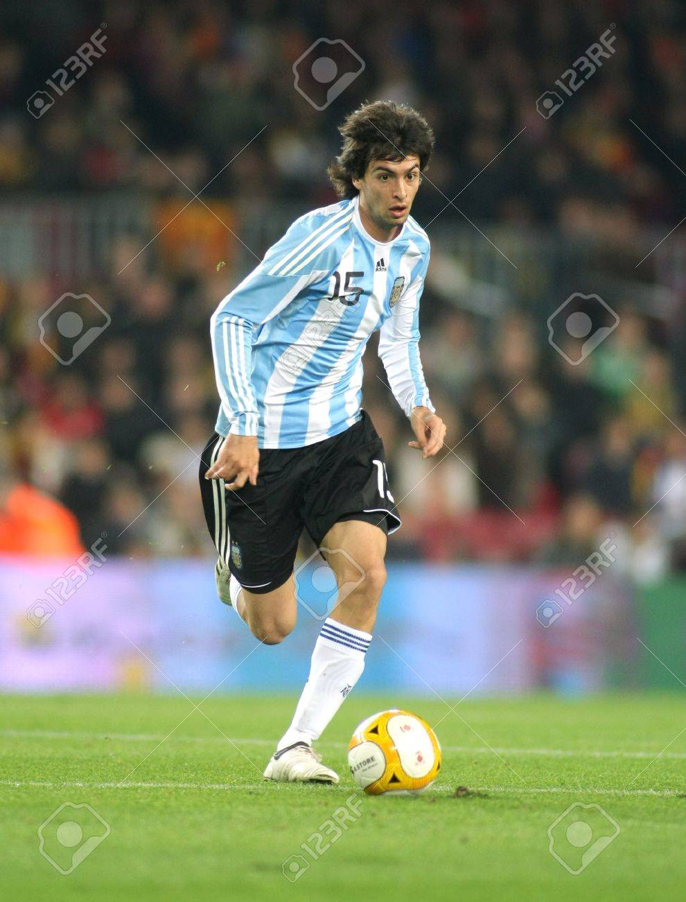 Argentinian Player Javier Pastore In Action During The Friendly