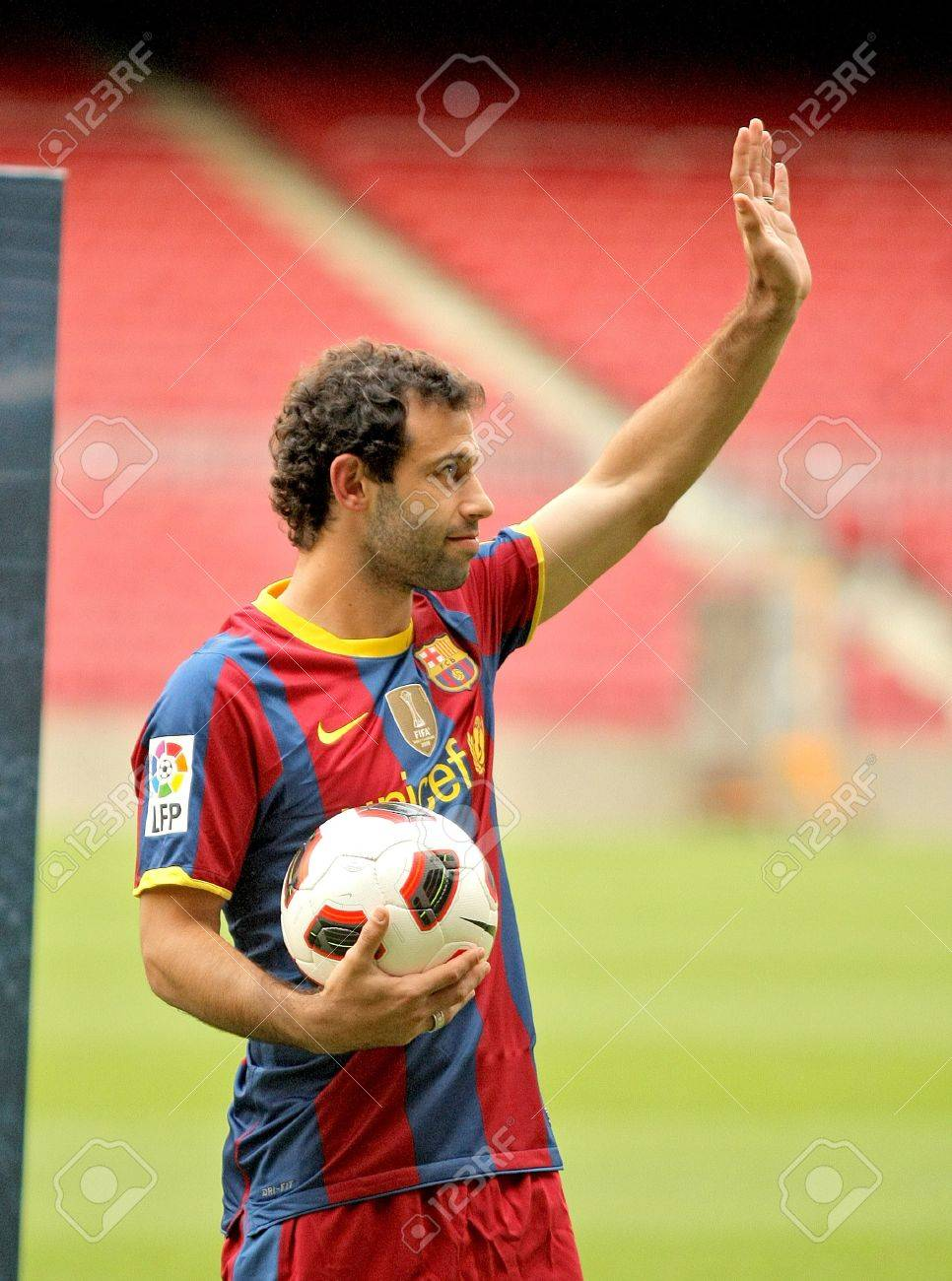 Futbol Club Barcelona s New International Angentinian Javier