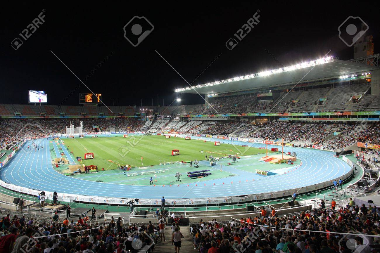 Olympic Stadium of Barcelona during the 20th European Athletics Championships at the Olympic Stadium on July 30, 2010 in Barcelona, Spain Stock Photo - 7959536