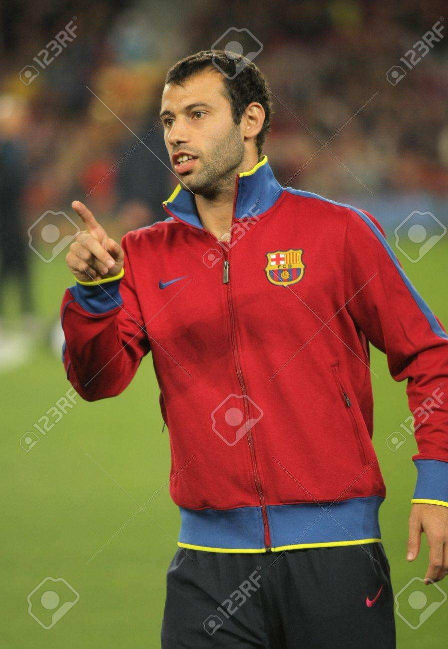 Javier Mascherano FC Barcelona Before Spanish League Match