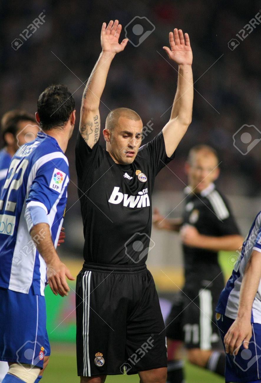 Fabio Cannavaro Real Madrid In Action During The La Liga Match