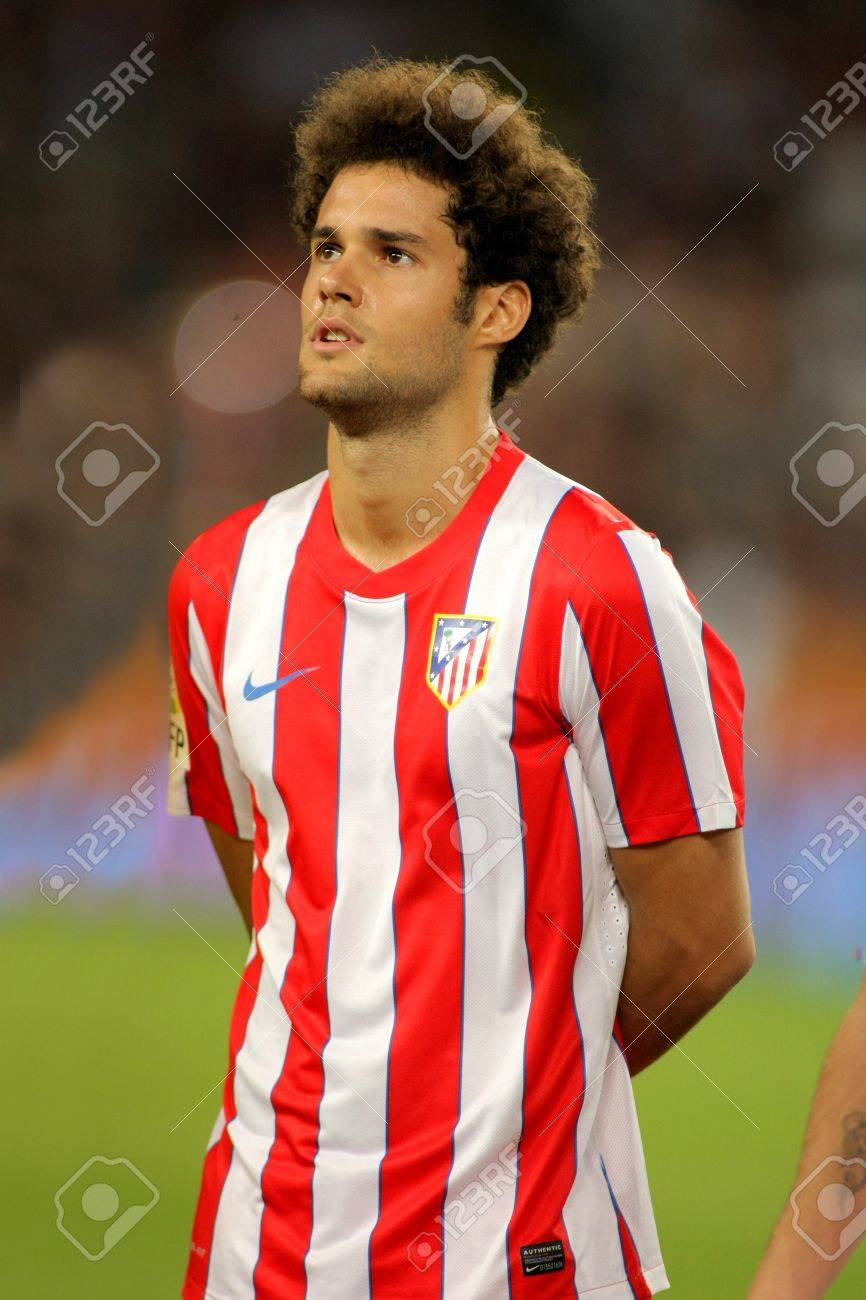 Mario Suarez Of Atletico Madrid Posing Before The Spanish League.. Stock  Photo, Picture And Royalty Free Image. Image 11016871.