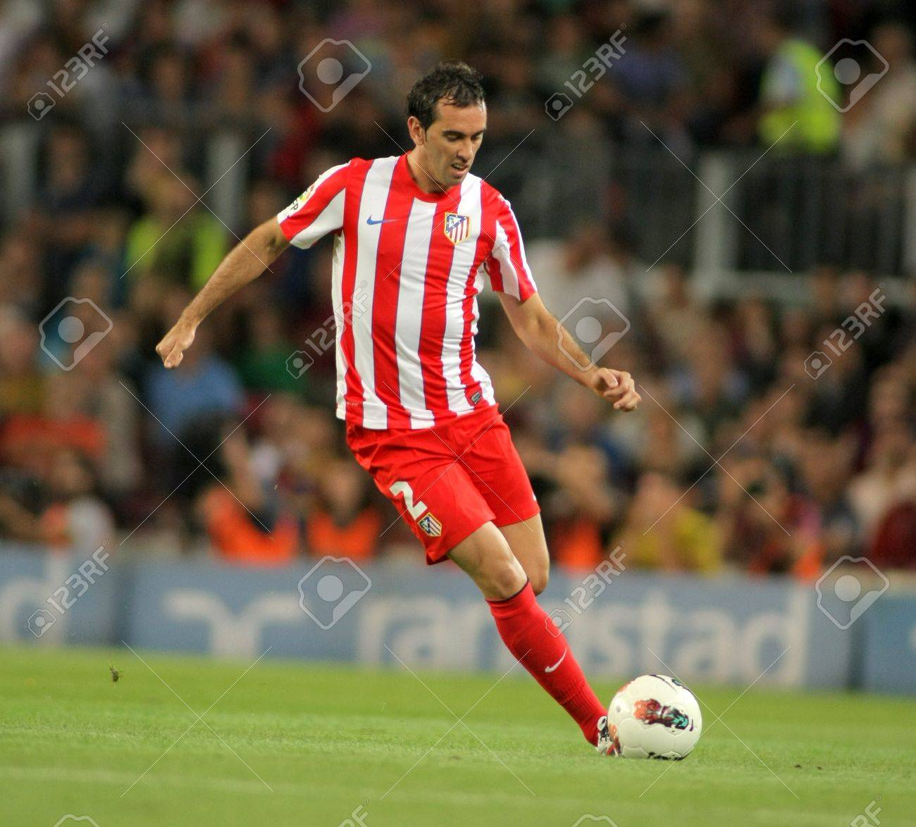 Diego Godin Atletico De Madrid In Action During The Spanish