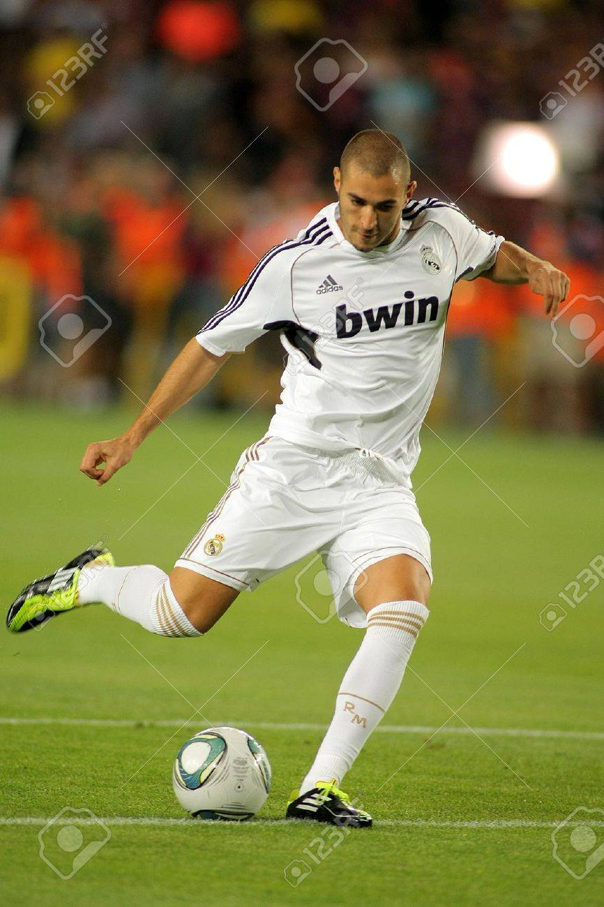 Karim Benzema Real Madrid In Action During The Spanish Supercup