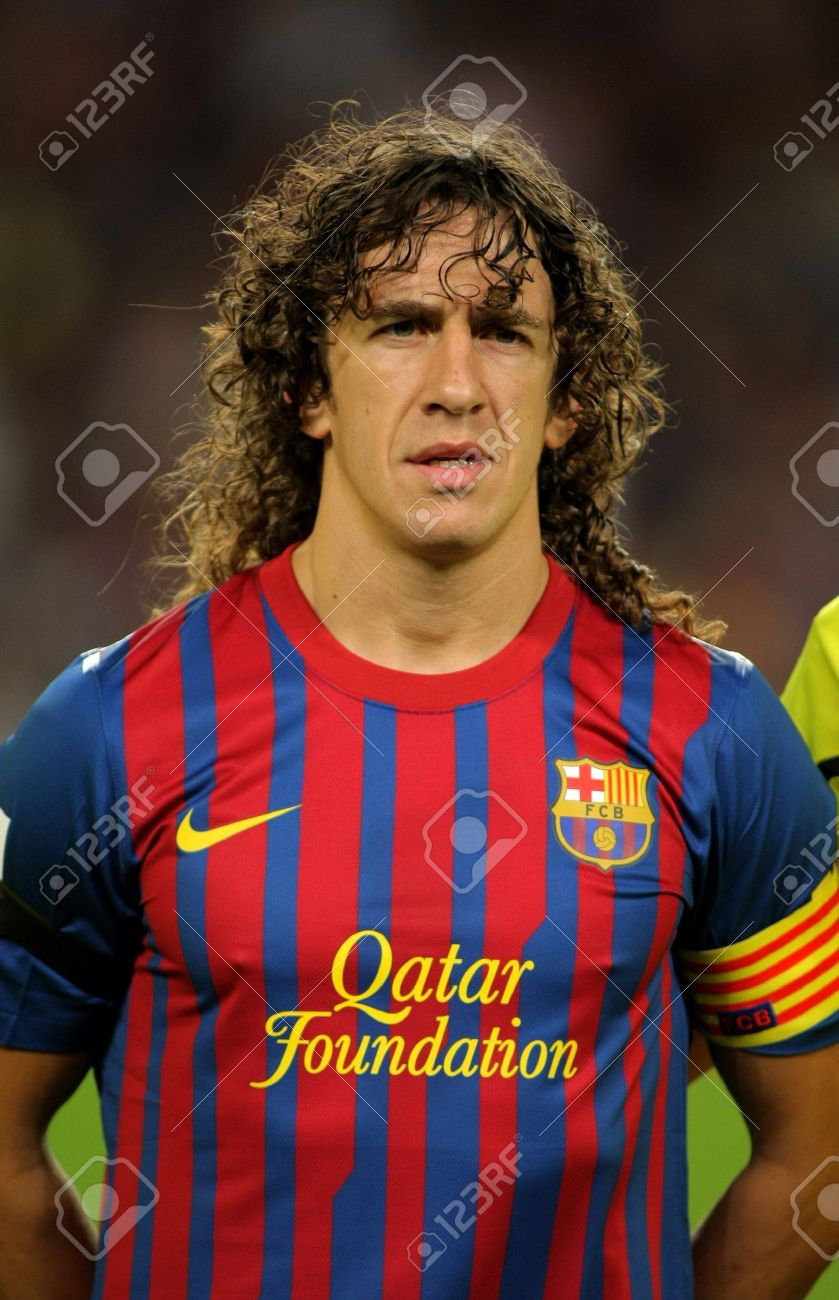 Carles Puyol FC Barcelona Posing Before The Spanish League