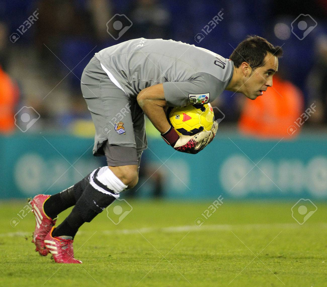 Claudio Bravo Real Sociedad In Action During A Spanish League