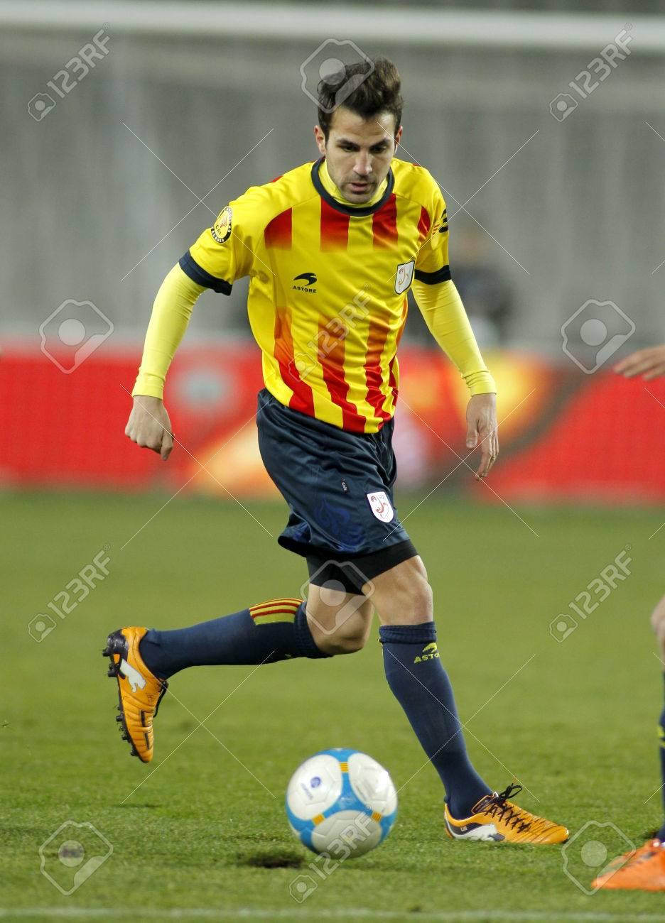 Catalan Player Cesc Fabregas FC Barcelona In Action During