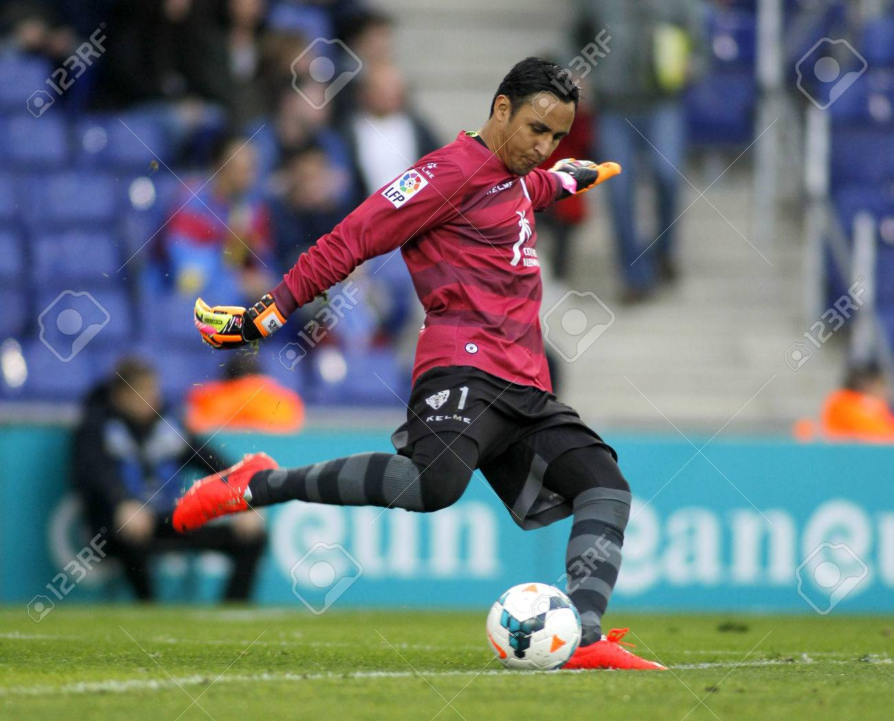 Keylor Navas UD Levante In Action During A Match Against RCD