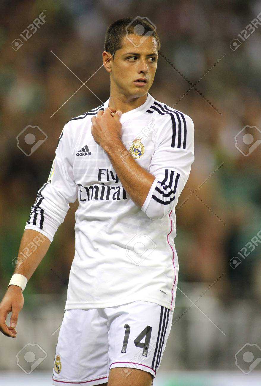 competitive price 10722 c206d Javier Chicharito Hernandez of Real Madrid during the Spanish..