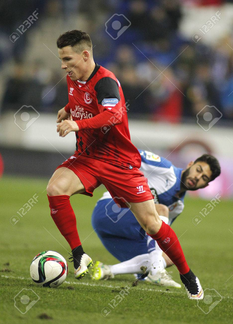 Kevin Gameiro Sevilla FC During Spanish League Match Against