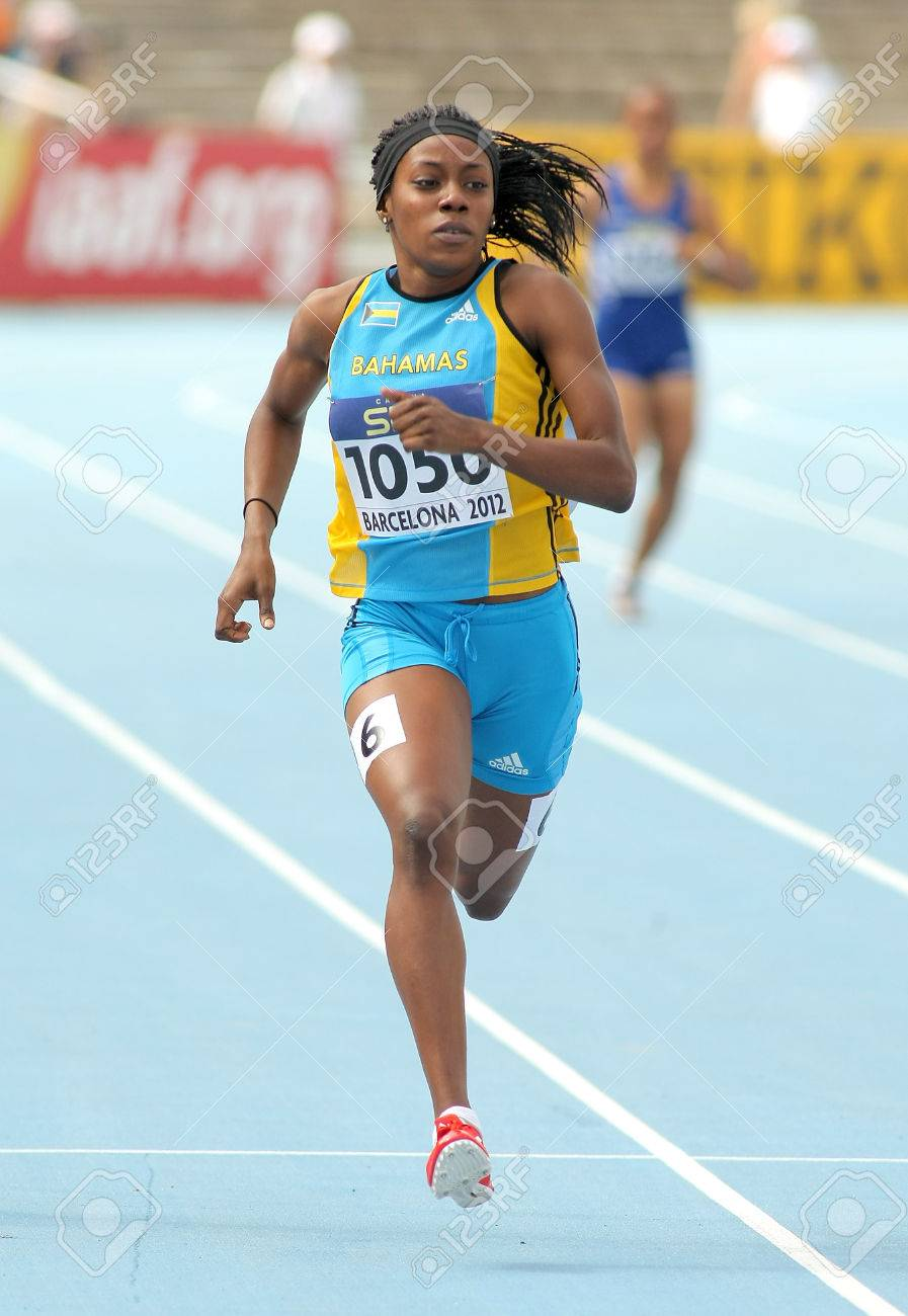 Rashan Brown of Bahamas in action on 400 meters of the 20th World