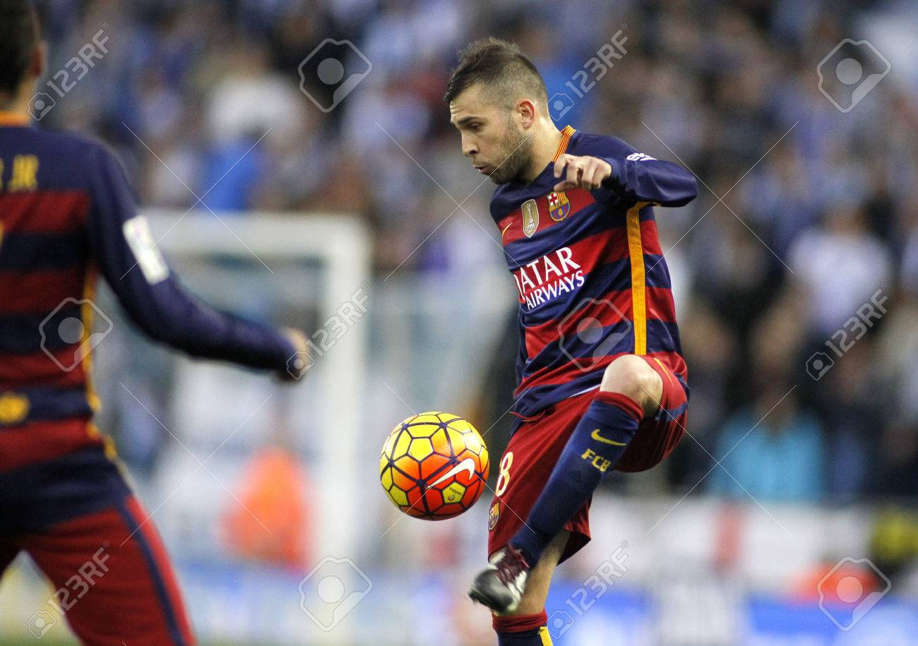 Jordi Alba of FC Barcelona during a Spanish League match against