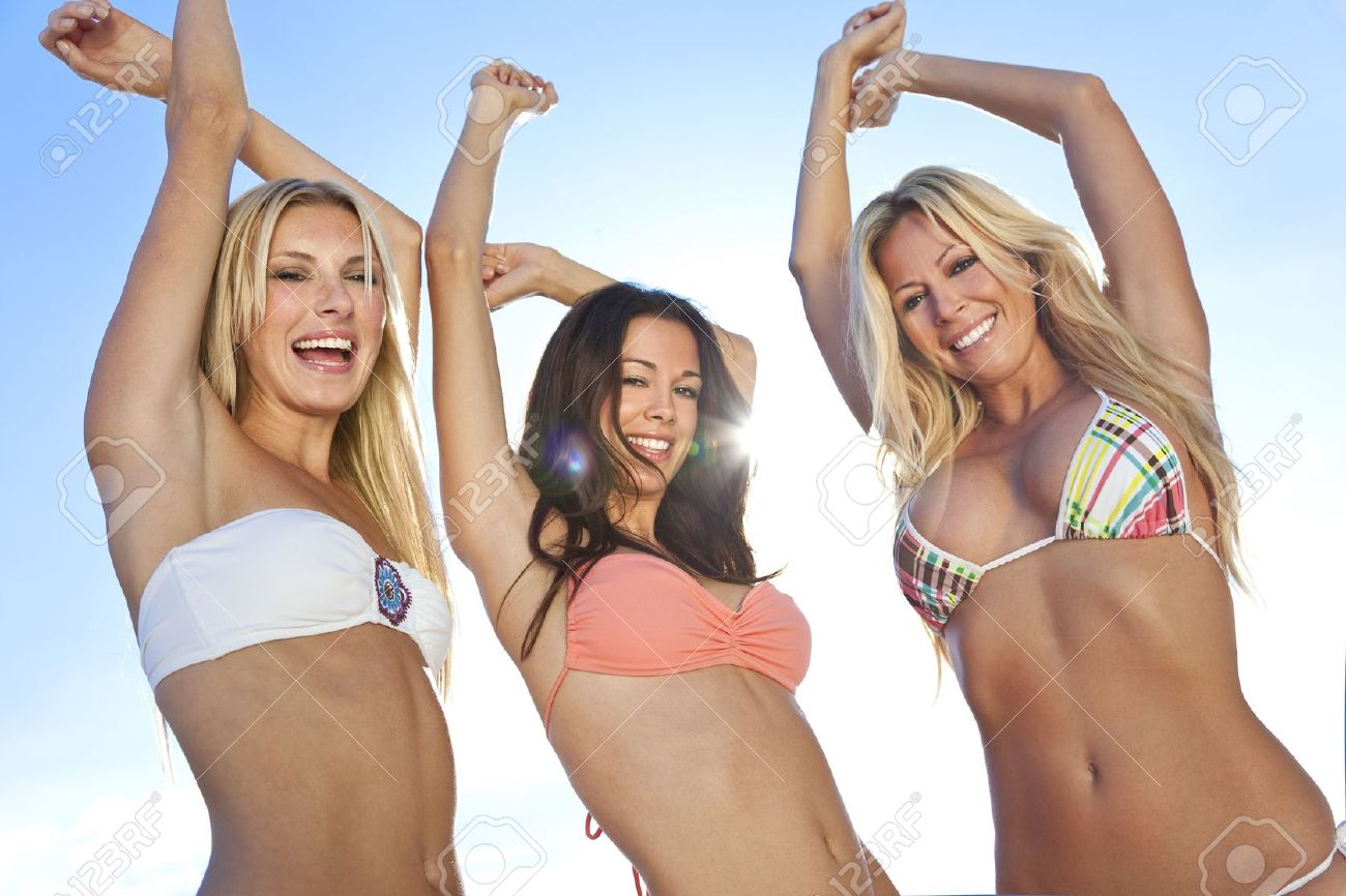 Bikini dancing girls
