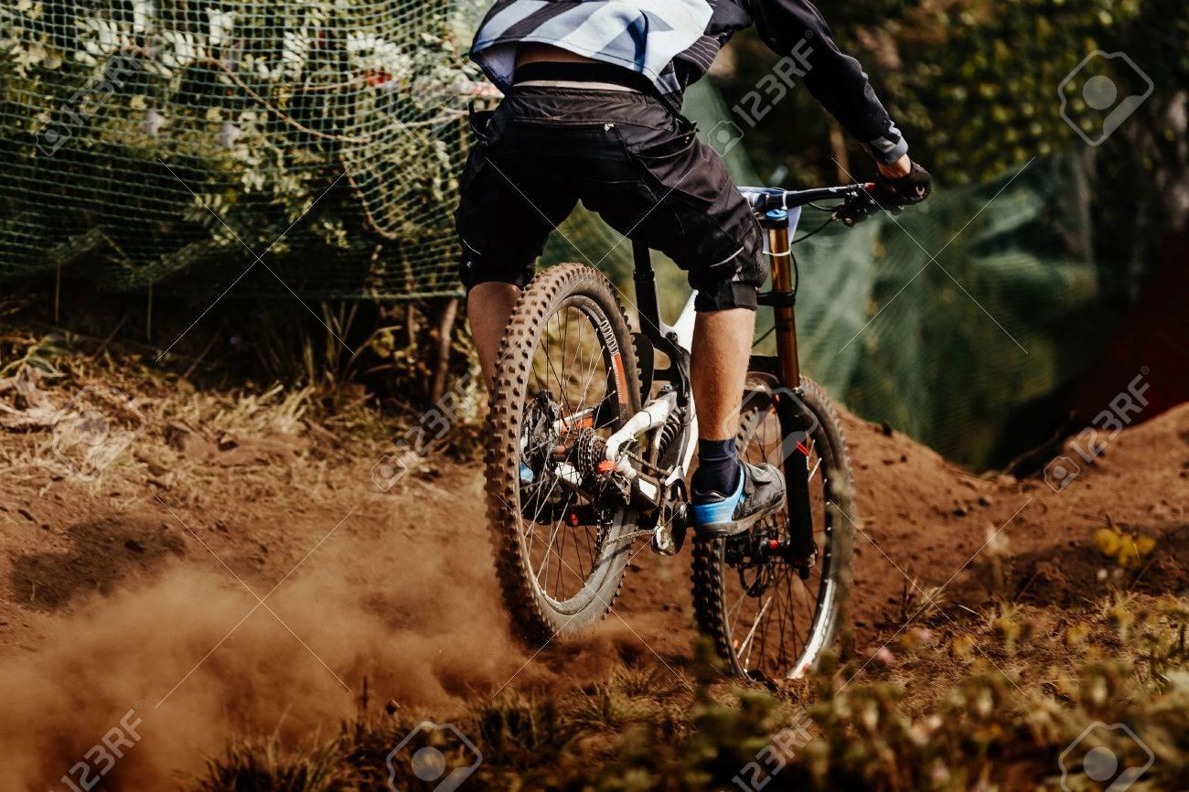back man rider downhill mountain biking - 83550043