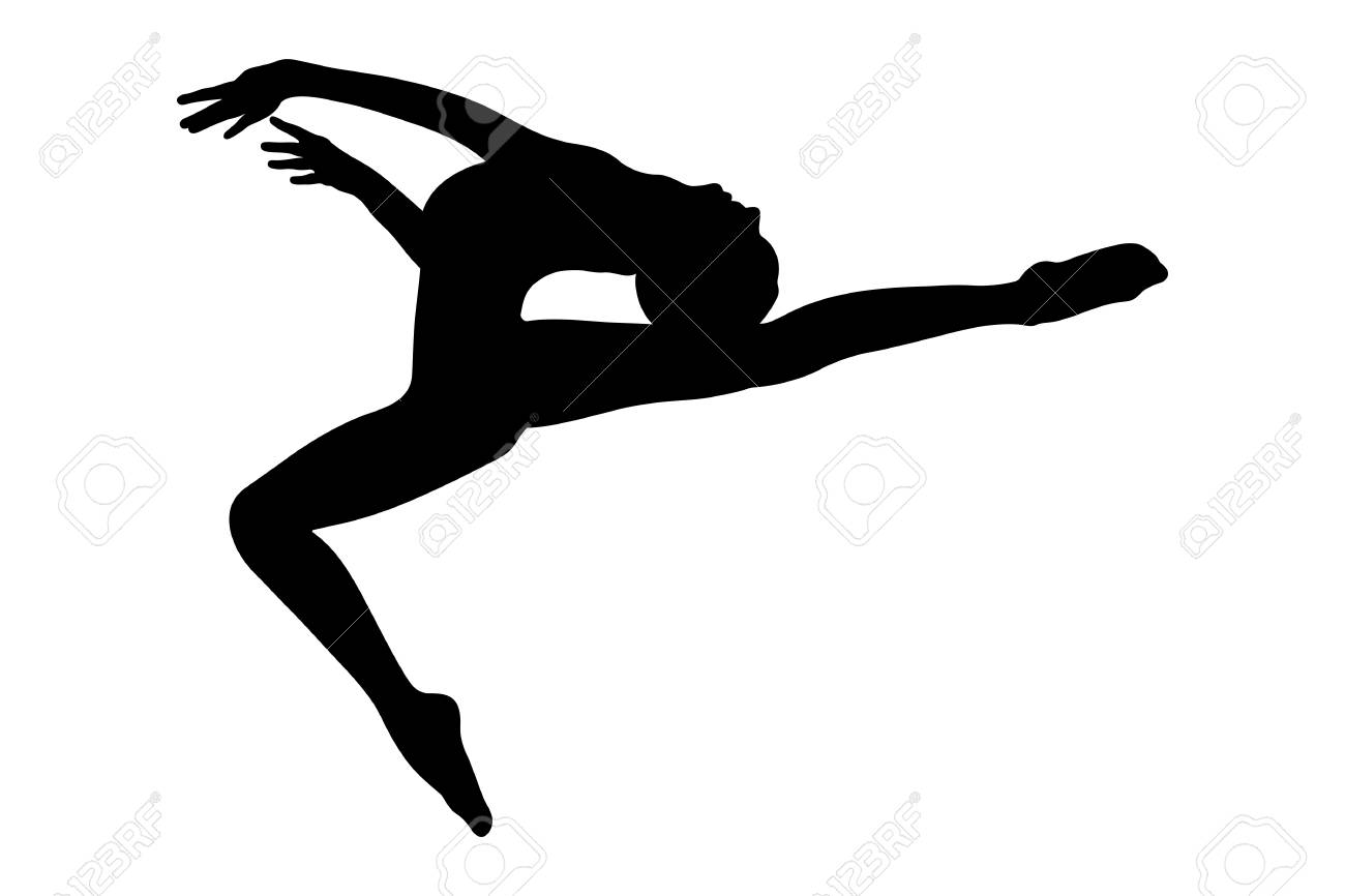 Female Gymnast Silhouette Royalty Free Cliparts Vectors And Stock Illustration Image 100516893