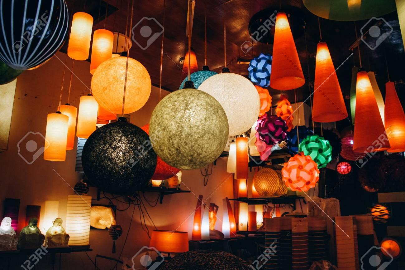 in light shop Bali local island design colored lamps nO0wPk