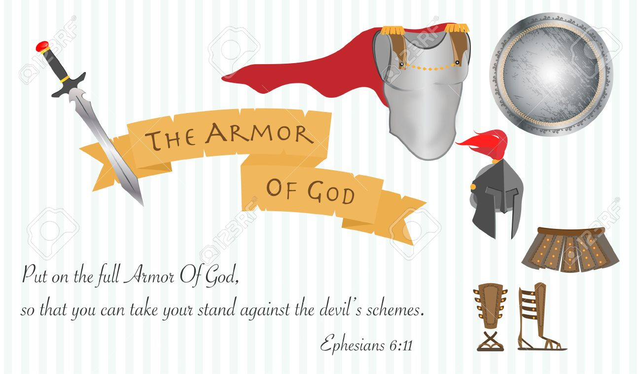the armor of god christianity jesus christ bible vector