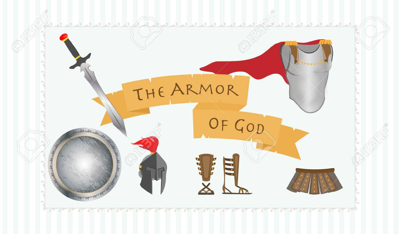 armor of god christianity message protestant warrior vector
