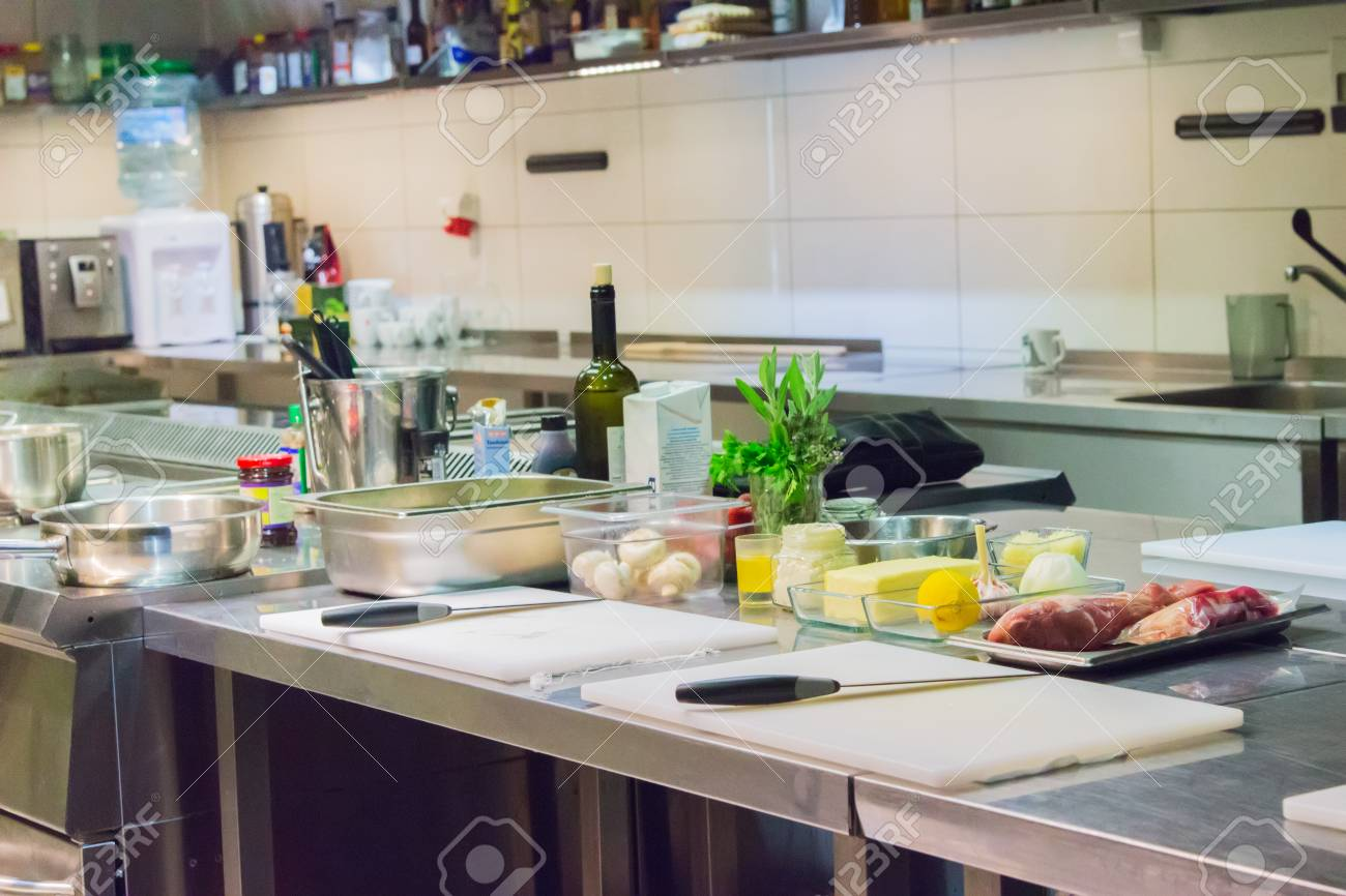 Master Class Workplace Restaurant Kitchen Product Stainless Steel Stock Photo Picture And Royalty Free Image Image 97622808