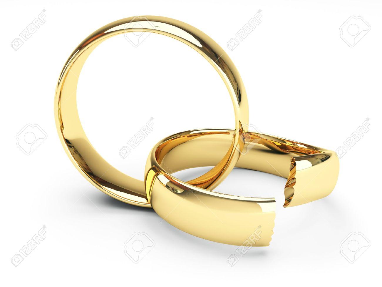 picture of broken wedding rings